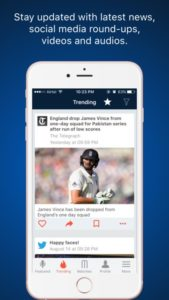Mobileapp cricking trending news